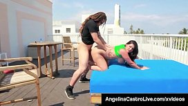 Sweet Cuban Angelina Castro Is Super Banged On A Roof Top!