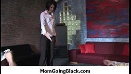Hot MILF deepthroats, gags and gets banged by a black cock 3