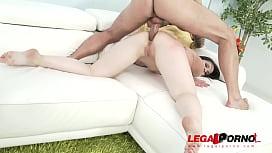 Big butt spanish slut Nekane Sweet anal with 2 guys SZ1384