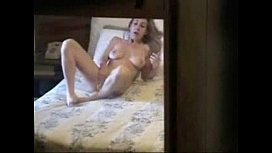 Spying my kinky sister masturbating on bed. Hidden cam