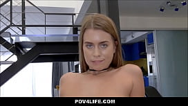 Hot Athletic Teen Tricks Neighbor Into Fucking Her POV