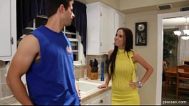Big Tit Brunette Po ar Brandy Aniston Gets Fucked In Her Yellow Dress