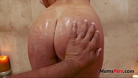 Mom And Massage- Blonde Mom Fucks SOn-India Summer