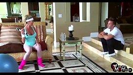 Brandi Love screams &amp_ shouts as her gym lover rams her MILF cunt - MilfyMom.com