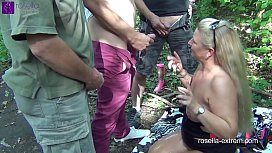 Public rest area Slut, is used dirty by 30 truckers and filled with sperm and piss! Chapter 4 (Attention! Extreme public sex)