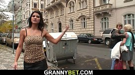 Hot granny games with skinny old prostitute