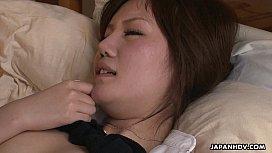 Dildo fucking the hairy muff so she orgasms