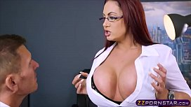 Time to fuck this busty MILF businesswoman really hard