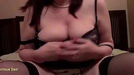 BBW With Big Saggy Tits Finger Bangs