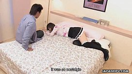 Asian bitch fucking the dude in the love hotel r