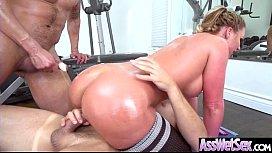 (Phoenix Marie) Big Round Oiled Ass Girl Love Hard Anal Intercorse video-26