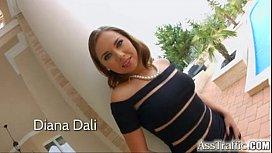 Ass Traffic: Diana Dali gets a huge cock in her ass
