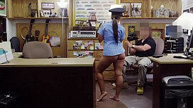 XXX PAWN - Juicy Latin Police Officer No Speaky English Desperate For Money