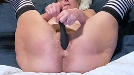 Horny Wife Toys Her Wet Pussy Nice Spread