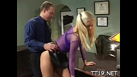 Goluptious blonde Holly gets squeezed and teased