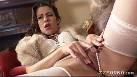 Lusty pornstar Samia Duarte banged in her big butt