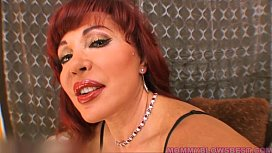 Hot Redhead Latina Mommy Likes That Young Cock