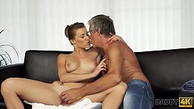 DADDY4K. Guy catches girlfriend and dad having old and young sex
