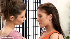 Pussy Kat and Jenny Glam seduces eachother on Sapphic Erotica