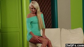 Watch sexy Ivana undress and fuck herself for you