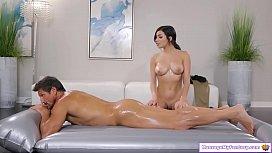 Teen gives her stepdad full nuru massage