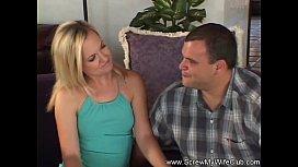 Skinny Blonde MILF Swinger Loves New Dick