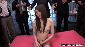 Skinny Rina Serizawa likes to get gang banged and creampied