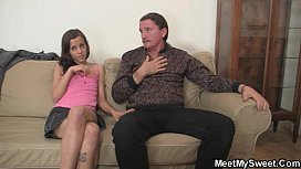 Oral orgy with her BF'_s family