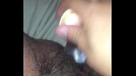 Squirting on my nice glass dildo