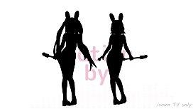 MMD Miku & Rin Ghostly Dance