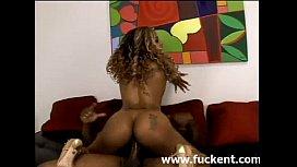 Hot Ebony Yexes Dines riding a bigcock - www.fuckent.com