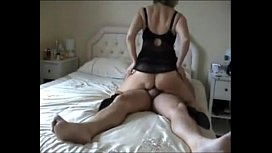 mommy gives her boy a great ride