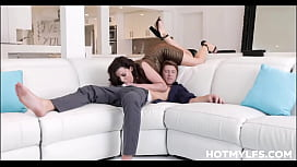 Big Tits Big Ass MILF Step Mom Becky Bandini Sex With Step s. On Family Couch