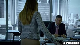 VIXEN Intern Gets Dominated By Her f.'_s Business Partner And Loves It