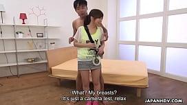 Japanese babe, Mei Wakana got nailed on the set, uncensored
