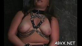 Neat dilettante honeys hard sex in bondage extreme show