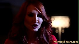 Redhead stepmom queening classy teen