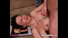 Granny Stepmom Caught Stepson With Porn Magazine