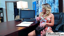Sex Scene In Office With Slut Hot Busty Girl (Cali Carter) video-26