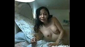 Sexy asian on live cam stripping