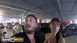 BANGBROS - Filthy Spanish Nympho Franceska Jaimes Gets Fucked In Public Airport Garage!