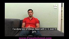 FemaleAgent MILF cums all over studs cock