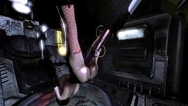 3D Busty Girl Wrecked by Horror Aliens!