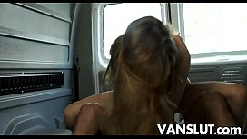 Alex Mae rough fuck in van