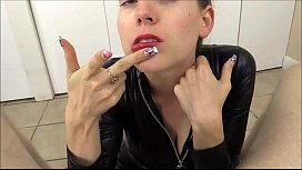 Lelu Love Puts On Lipstick And Wraps Her Red Lips Around Your Cock