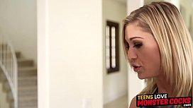 Tattooed stepsister cunt slammed by monster black cock