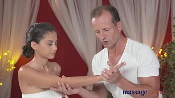 Massage Rooms Petite Ukrainian Model Has Her Tiny Hole Filled With Cock thumbnail