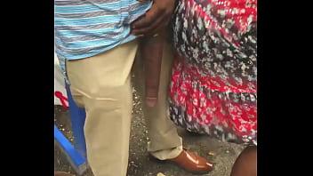 Huge Big Black Dick Flash In Public Bus Stop thumbnail