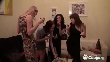 Horny Group Of Girlfriends Have A Wild Lesbian Orgy - 69VClub.Com