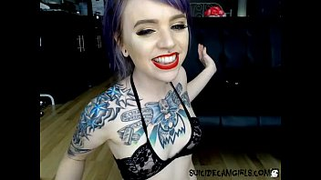 Alternative adult louisville - Inked alternate model spanks herself on cam